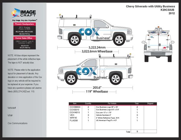 Chevy Silverado w Utility - Business - A la Carte