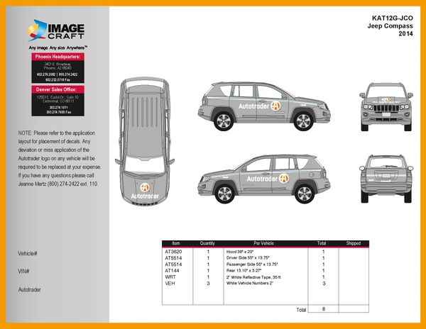 Jeep Compass 2014 - Autotrader - Complete Kit