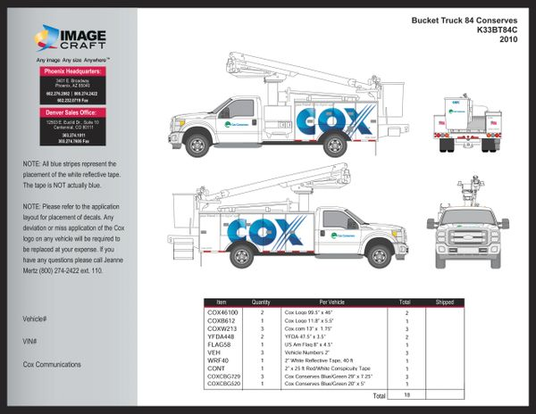 Bucket Truck F150 2010 (K33BT84C2) - A la Carte