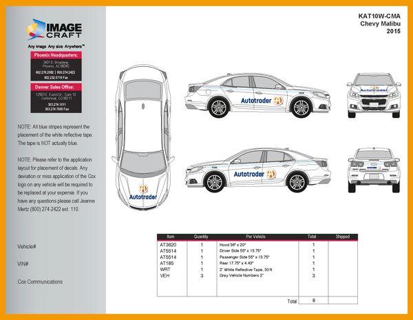 Chevy Malibu 2015 - Autotrader - Complete Kit