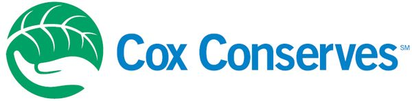 COX Conserves Blue/Green Logo