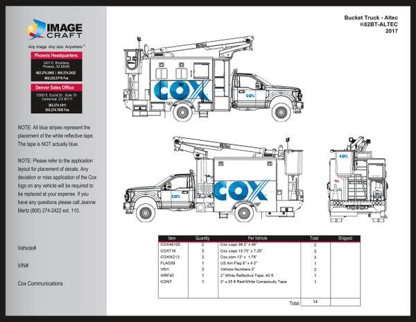 Bucket Truck - Altec 2017 (K62BT-ALTEC) - A la Carte