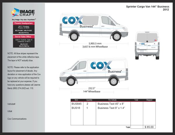 Sprinter Cargo Van 2012 - Business - Conversion Kit