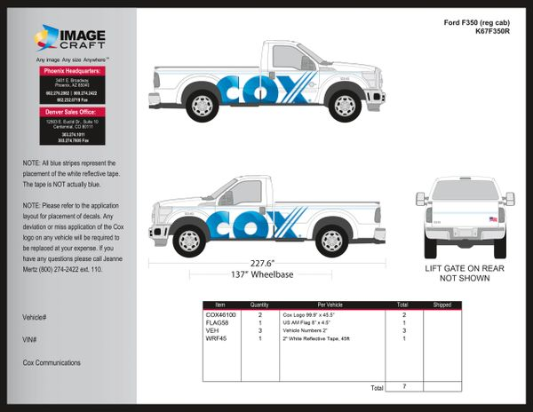 Ford F350 Reg Cab - 2017 - Residential - Complete Kit