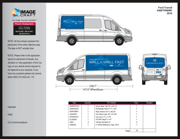 Ford Transit - Wall to Wall Fast - 2016 - Complete Kit