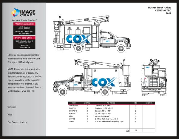 Bucket Truck - Altec - 2017 - Complete Kit