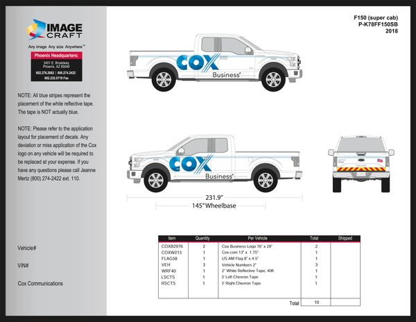 Ford F150 (super cab) 2017-2018 - Business - Complete Kit