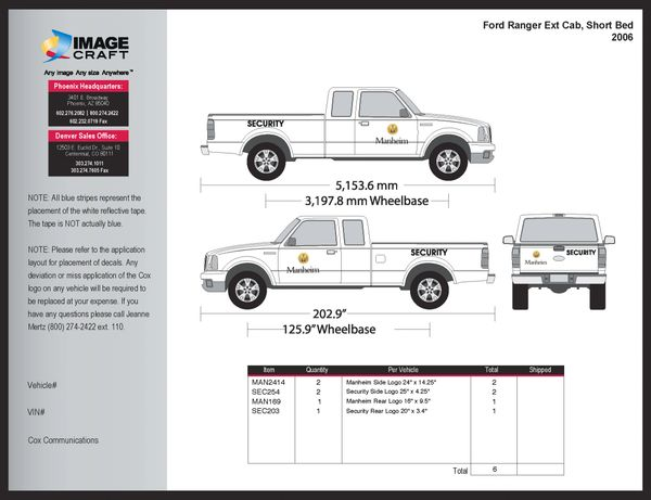Ford Ranger, Extended Cab, SB 2006 - Manheim - A La Carte
