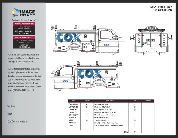 Ford F250 Low Profile - Business - Complete Kit