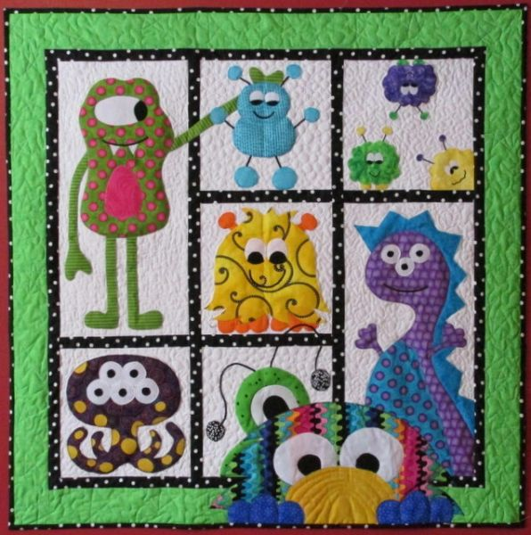 Morgans Monster Madness Quilt Patterns Baby Quilts Jastitches