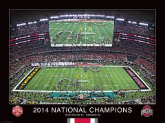 National Championship Double-Script Ohio 18x24 Print