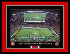 National Championship Double-Script Ohio 18x24 Framed Print
