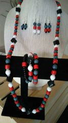 Red, White, Blue Necklace Only