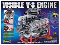 Revell VISIBLE V-8 1/4 Scale Plastic Model Engine Kit (RVL8883)