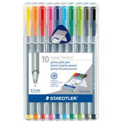 Staedtler Triplus Fineliner Point Pens .3mm 10pc. Set (SB10A6)