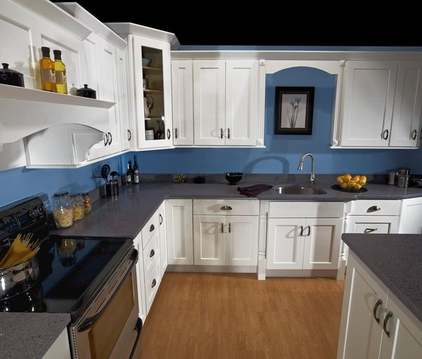White Shaker Average Kitchen Orders Only 2 Weeks Cabinet Barn