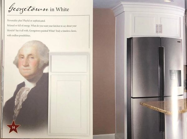 Amish made, Geogetown White Shaker cabinets,Standard sizes in stock! Free kitchen Design/Quote