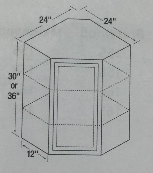 Kitchen Kompact Glenwood 24 X 30 Beech Wall Cabinet At: Unfinished Shaker 24 Angle Wall Tall Cabinet
