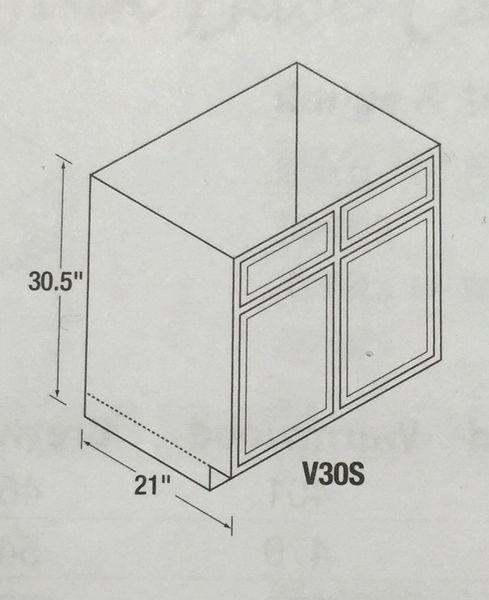 Kitchen Kompact Glenwood 24 X 30 Beech Wall Cabinet At: Chadwood Oak 30 Vanity Base Cabinet