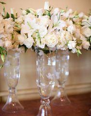 Clear-Garnet Vase