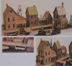 Water Street Dock (Complete Scene) HO Scale Craftsman KIT