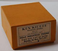 HOn3 Brass Ken Kidder 0-4-0 Industrial Loco w/Tender