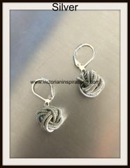 "Sea Lily Piano Wire ""Small Knot"" Collection ~ Earrings"