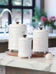 Mud Pie Circa 3 pc Canister Set