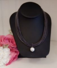 Sea Lily Piano Wire Single Pearl Necklace