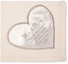 "Royal Plush Blanket 50"" x 60"" ~ Mr & Mrs"