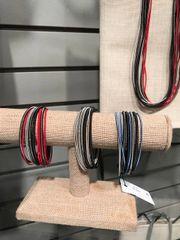 Sea Lily Multi Color/Multi Strand Piano Wire Bracelet