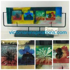 Jasmine Fused Art Glass ~ The Glass Pad