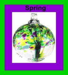 "Kitras ""Trees of Enchantment"" ~ 6"" Glass Balls"