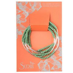 Scout ~ Bracelet - Necklace in one ~ Green/Silver