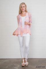 Simply Noelle Floral Lace Detail Jacket