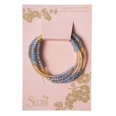 Scout ~ Bracelet - Necklace in one ~ Cloud (Blue)/MatteGold