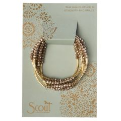 Scout ~ Bracelet - Necklace in one ~ Oyster/Gold