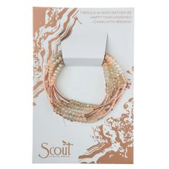Scout ~ Bracelet - Necklace in one ~ Shell/Rose Gold
