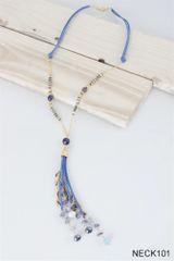 Simply Noelle Suede Tassel Necklace