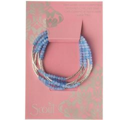 Scout ~ Bracelet - Necklace in one ~ Periwinkle/Silver