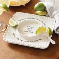 Mud Pie Circa Lime & Salt Rimmer Set