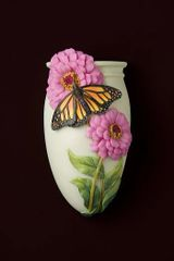 Ibis & Orchid ~ Wall Vases ~ Butterflies, Dragonflies, Birds