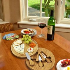 Picnic Time ~ Feta cheese/cutting board ~ Natural Bamboo