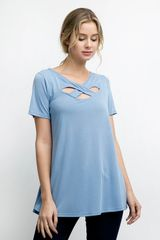 Andree by Unit ~ Short Sleeve with criss cross detail