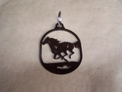 Running Horse Key Ring