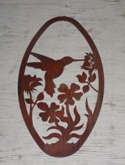 Hummingbird 20'' Oval Wall Art