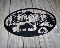 Moose Medium Oval Wall Art