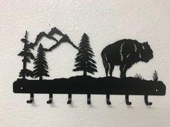 Buffalo With Trees 7 key hook