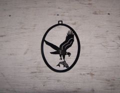 Eagle with Fish Welcome Door Hanger