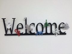 Horizontal welcome sign